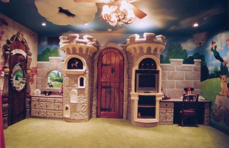 Kids Room Ideas Prince Princess Kids Castle Room Mini Mouse Mickey