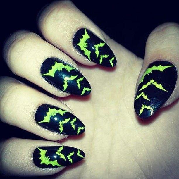 Creepy Cool Nail Art Inspiration Glow In The Dark Bats