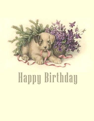 Free Vintage Birthday Card Designs