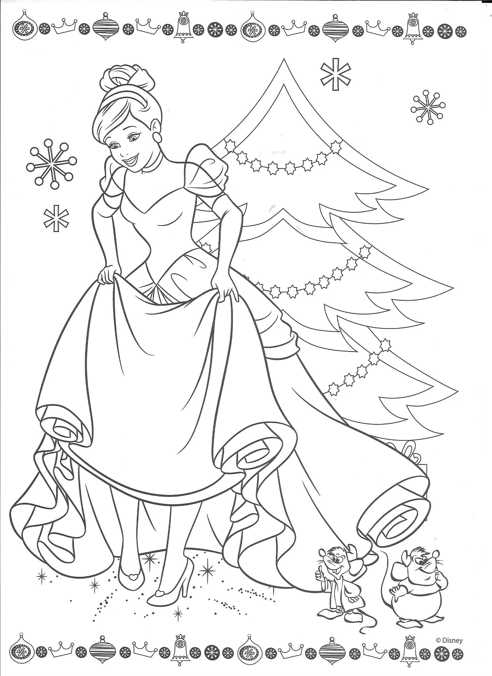Cinderella Christmas Cinderella coloring pages, Disney