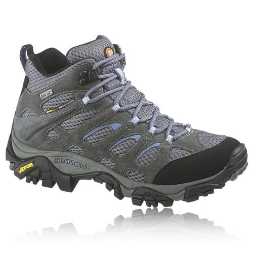 Details about Merrell Moab Mid Womens Grey Gore-Tex Waterproof Walking  Hiking Boots Shoes