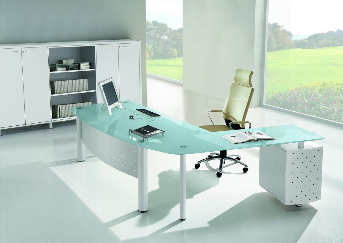Italian Glass Office Desks Projetos De Escritorio Projetos
