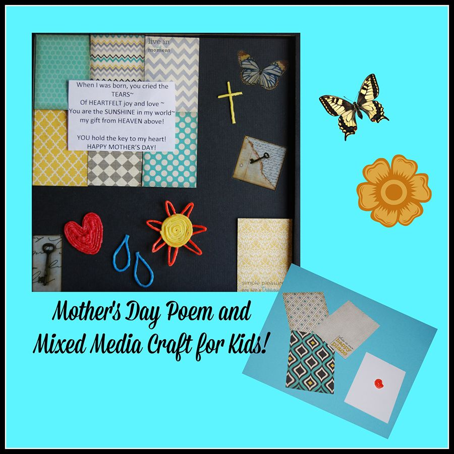 Mother's Day Poem and EASY Mixed Media Craft for Kids!