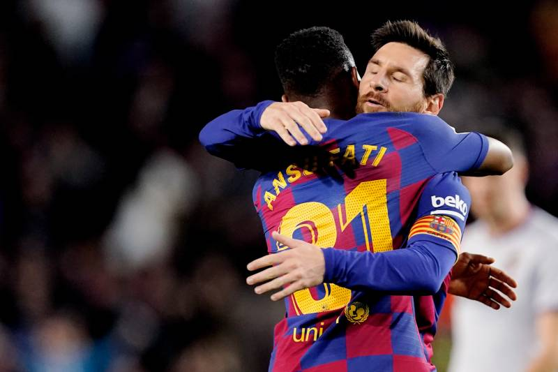 Ansu Fati Lionel Messi Combine To Lift Barcelona To Win Over Levante In La Liga In 2020 Lionel Messi Antoine Griezmann La Liga