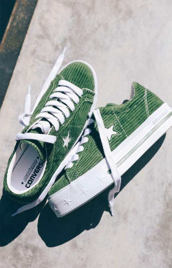c8ae74e34b70f Converse x MadeMe Women s Green One Star Platform Sneakers プラットフォームスニーカーのコーディネート