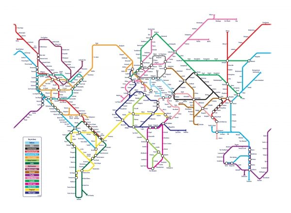 World Metro Map. Wow, CONNECTION!