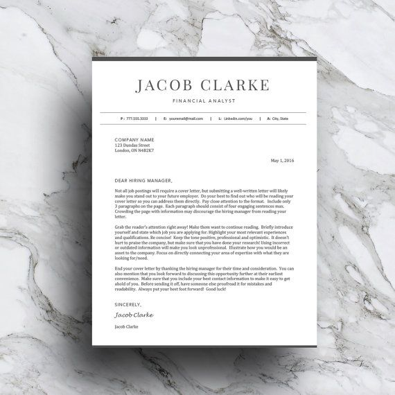 Classic Resume Template for Word  Pages (1 and 2 page resume, cover - resume 1 or 2 pages