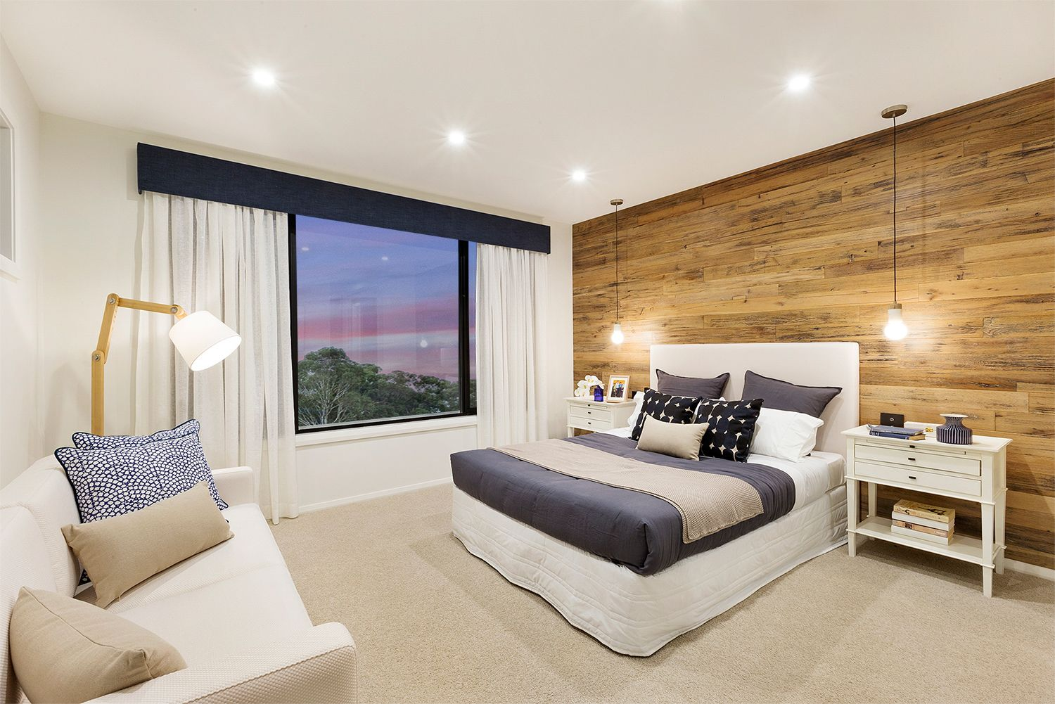 Master bedroom feature wall  Love the wooden wall  Master bedroom feature wall  Pinterest