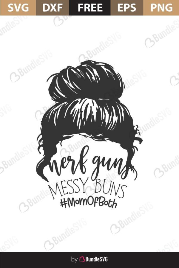 Messy Bun Svgs – 166+ Crafter Files