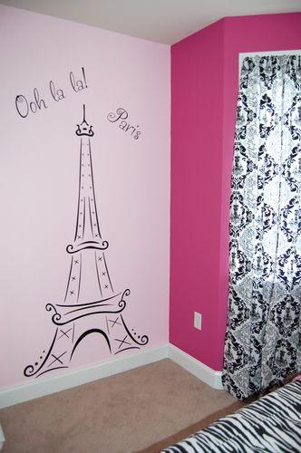 Torre Eiffel Arte De Pared De Vinilo Decoracion De Paredes Dormitorio Decoracion De Habitacion Juvenil