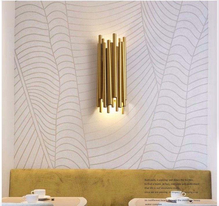 Post Moderne Conception Mur brubeck Scone Lampe pour Hôtel Bar Café - lampe exterieure allumage automatique
