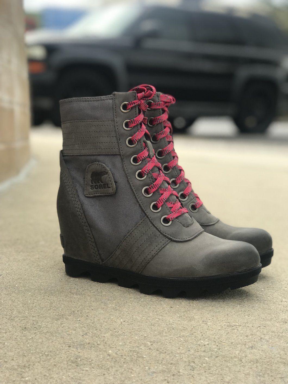 8cd073eea490 SOREL - Lexie Wedge Boot - Quarry (Grey)