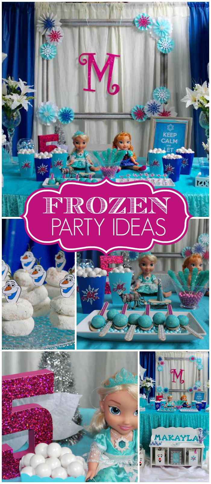 This Frozen Party Is Truly Magical See More Party Ideas At Catchmyparty Com Urodziny I Tort