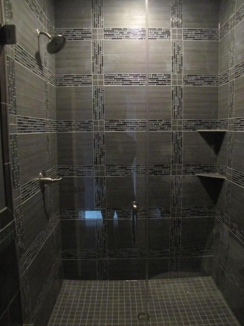 Glass Tile Shower Contemporary Bathroom Tile Chicago By Bathroom - Bathroom tile chicago