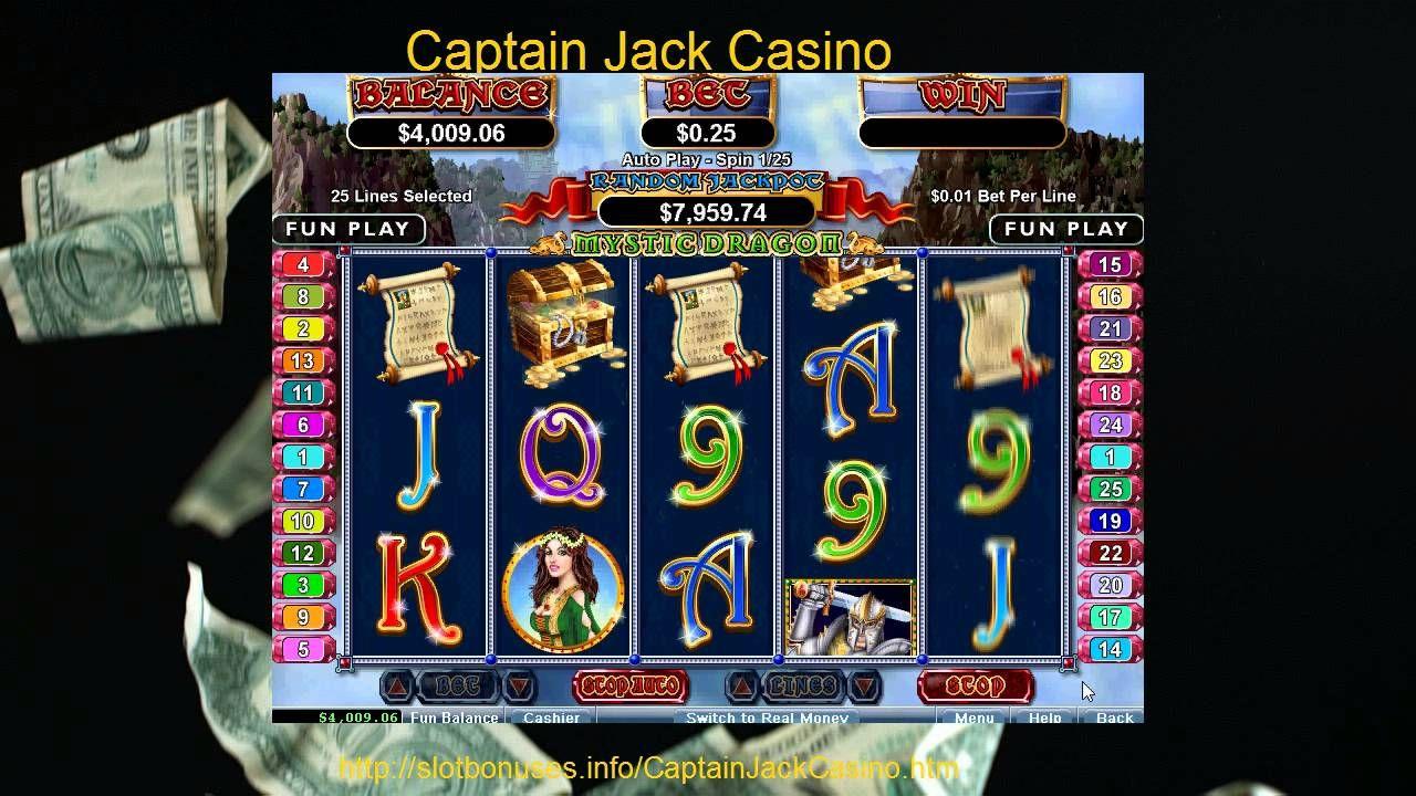 $11,000 Free Mystic Dragon Captain Jack Casino Bonus