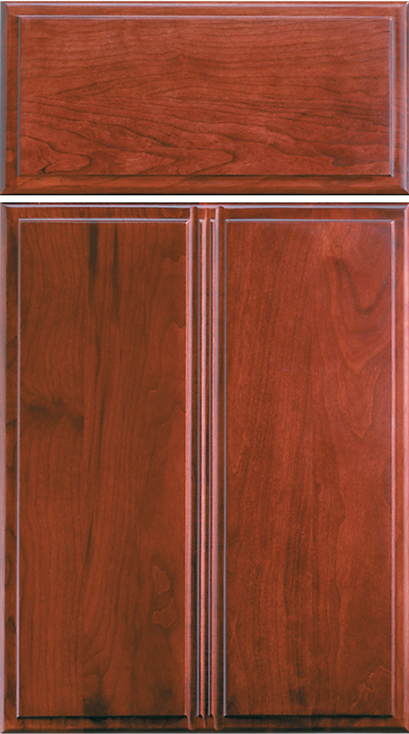 Woodharborcc Winslow Door Style Slab Drawer Front Cherry Sangria Finish