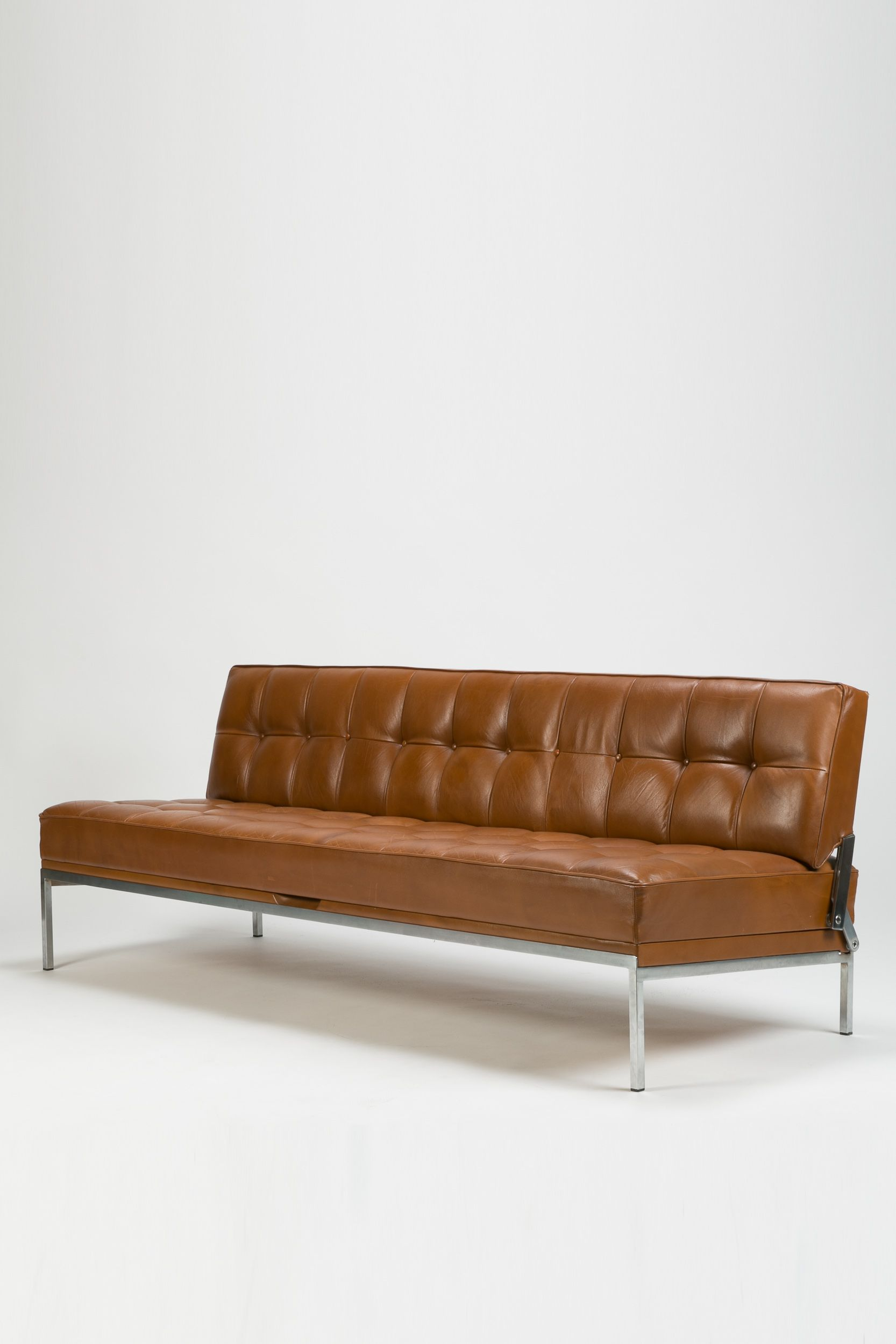 Schlafsofa Wittmann Johannes Spalt Chromed Metal And Leather Constanzebank Sofa For