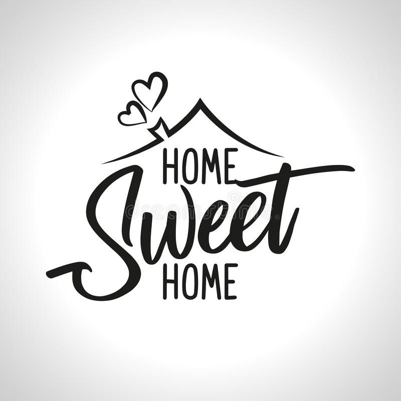 Home Sweet Home stock vector. Illustration of message - 127368763