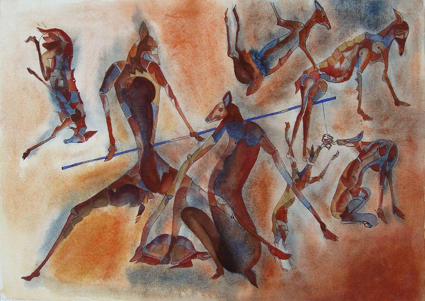 Chacales By Francisco Toledo Arte Contemporaneo Arte Pintora Mexicana