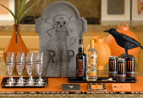 Halloween Adult Party Idea Love the use of the monster drink - halloween party decorations adults