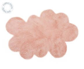 Tapis NUAGE acrylique et coton, rose poudré - 90*130