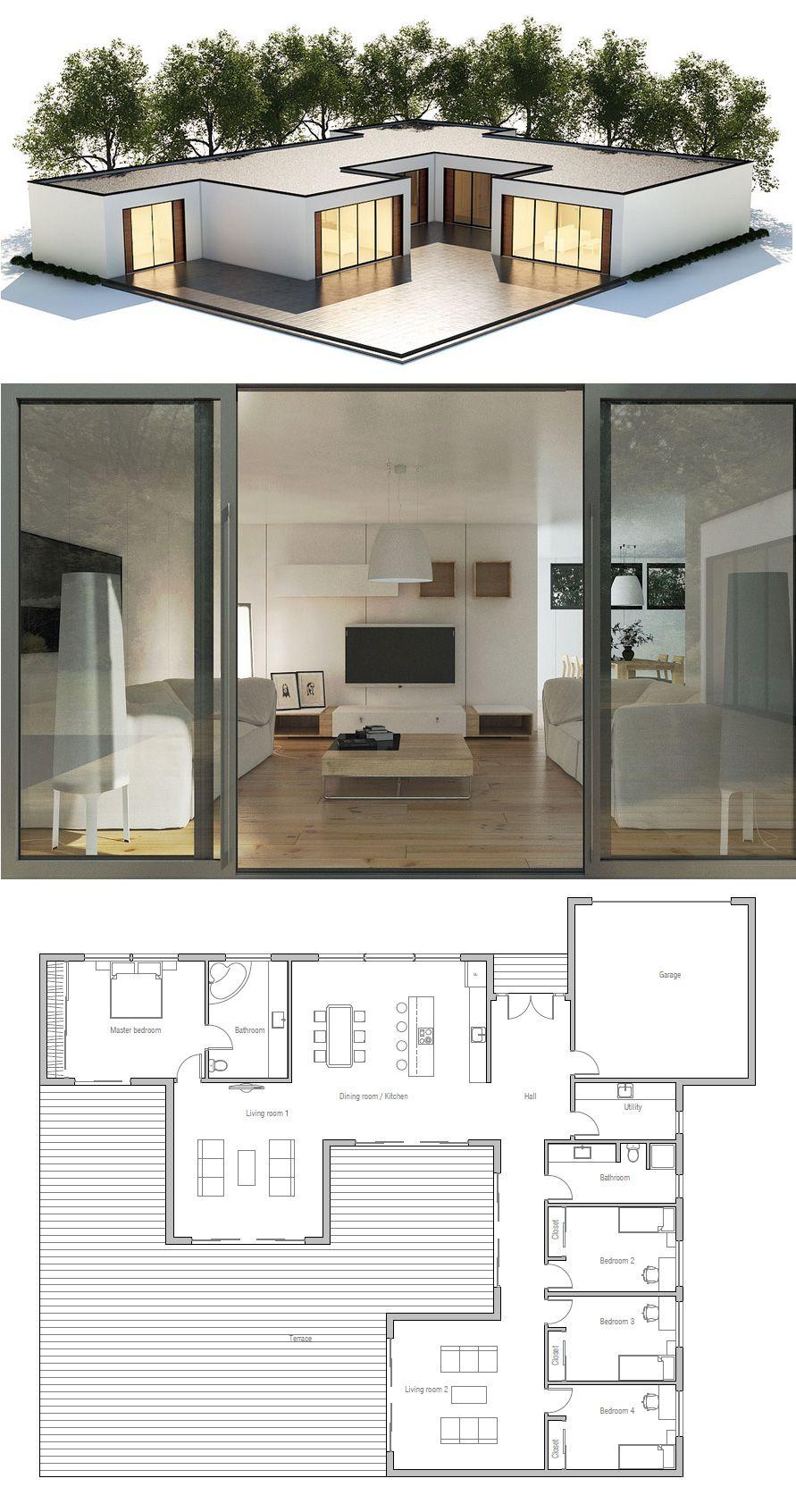 Les 25 meilleures id es de la cat gorie plan maison sur pinterest plan de la maison un tage Modern residential house plans
