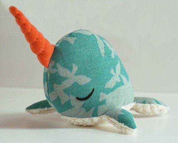 Narwhal PDF Pattern Stuffed Animal Softie Plush 3 by ... | plush lo ...