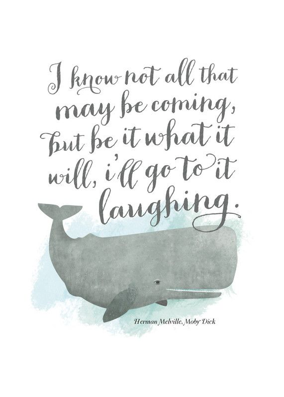 Go to it Laughing - Herman Melville (Moby Dick) print - Distressed Indigo Stain frame - 8 x 10 ($39) - standard paper & framing