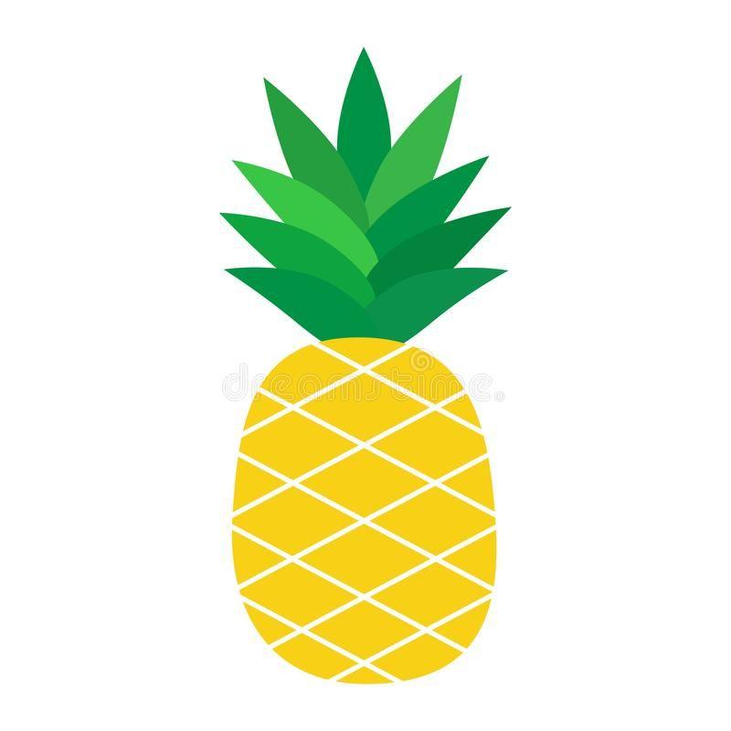 Pineapple tropical fruit vector illustration. Pineapple ...