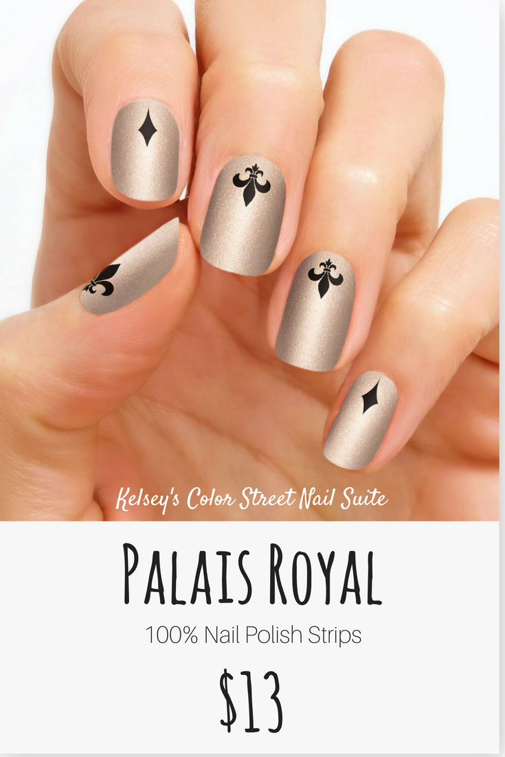Color Street Palais Royal Nail Art Fit For Royalty Gold Shimmer