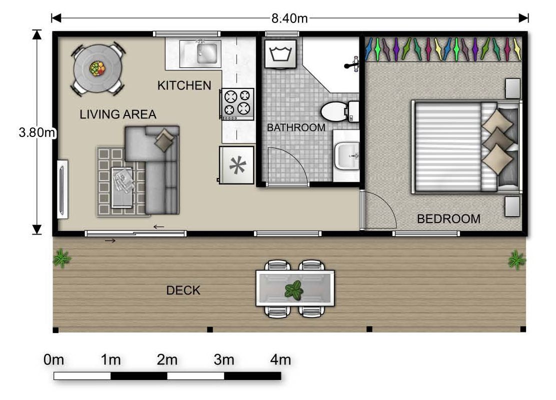 for One bedroom flat design plans