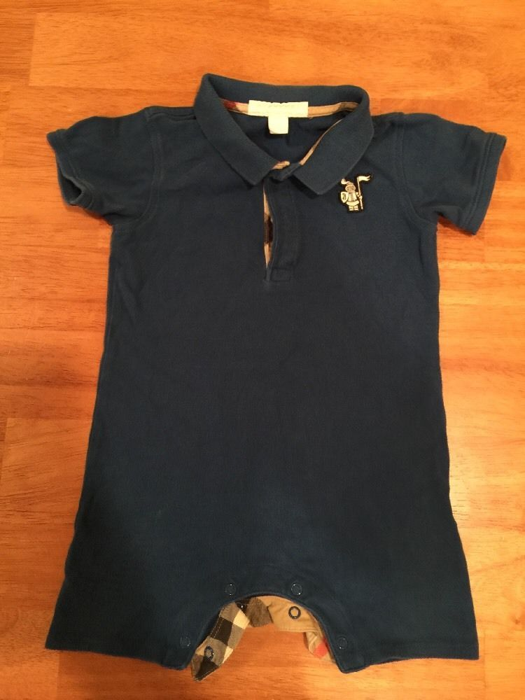 a4bcbbc4 from $14.99 - Authentic #Burberry Baby Boy Blue Bodysuit Outfit 18 Months  Vguc