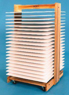 Build Drying Rack For Paintings Art Room Art Storage Art Classroom
