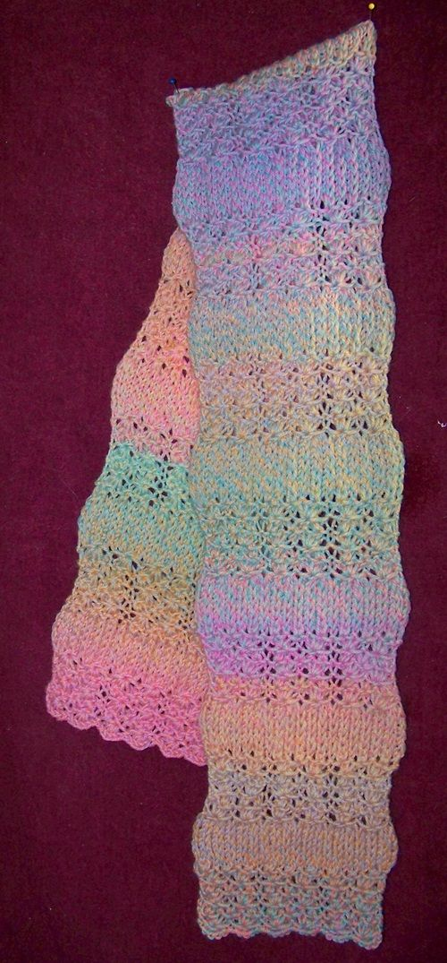Lotus Stitch Scarf Free Knitting Pattern