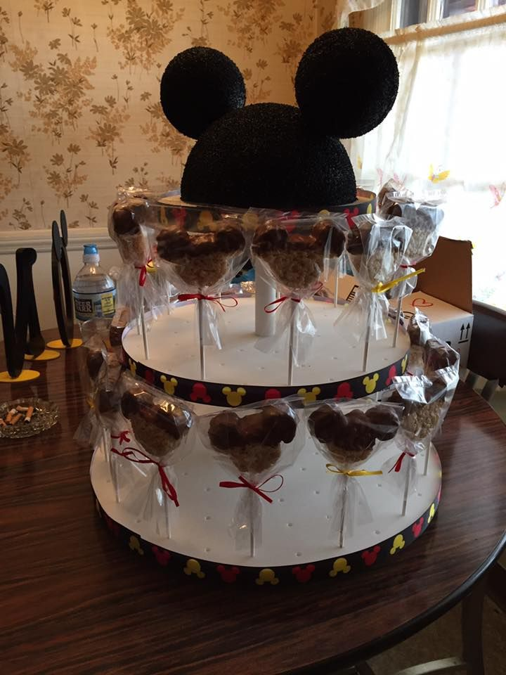 Mickey mouse cake stand and topper mickey mouse ears rice