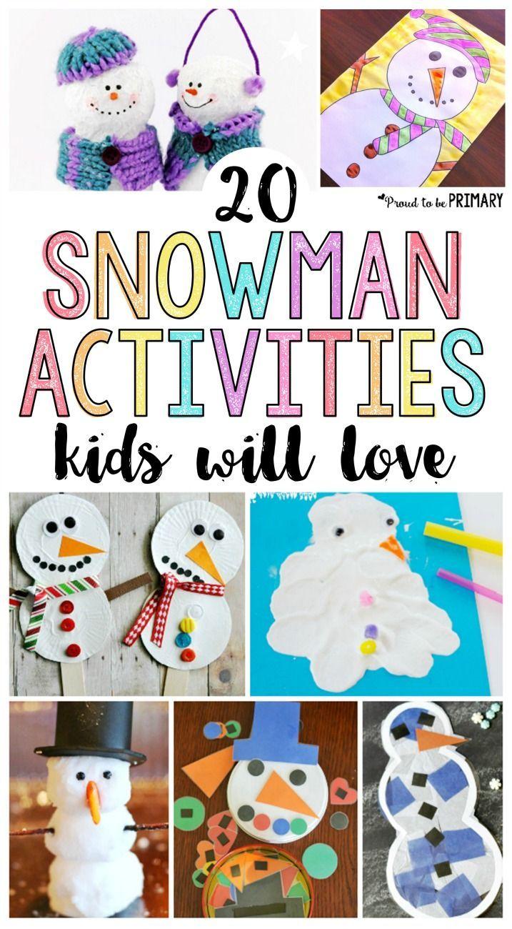 20 Snowman Craft Ideas That Kids And Teachers Will Love Snow