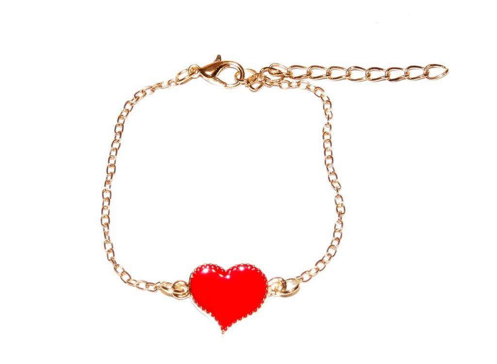 Pulseira Coração Vermelho - Dáli Acessórios — Dáli Acessórios