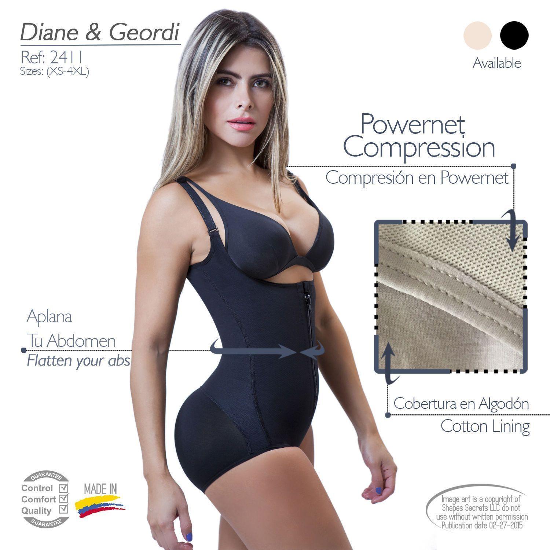4cb9c9bd1d886 Fajas Colombianas Diane Geordi Ref2411 Post-Lipo Post-Partum Strong  Compression