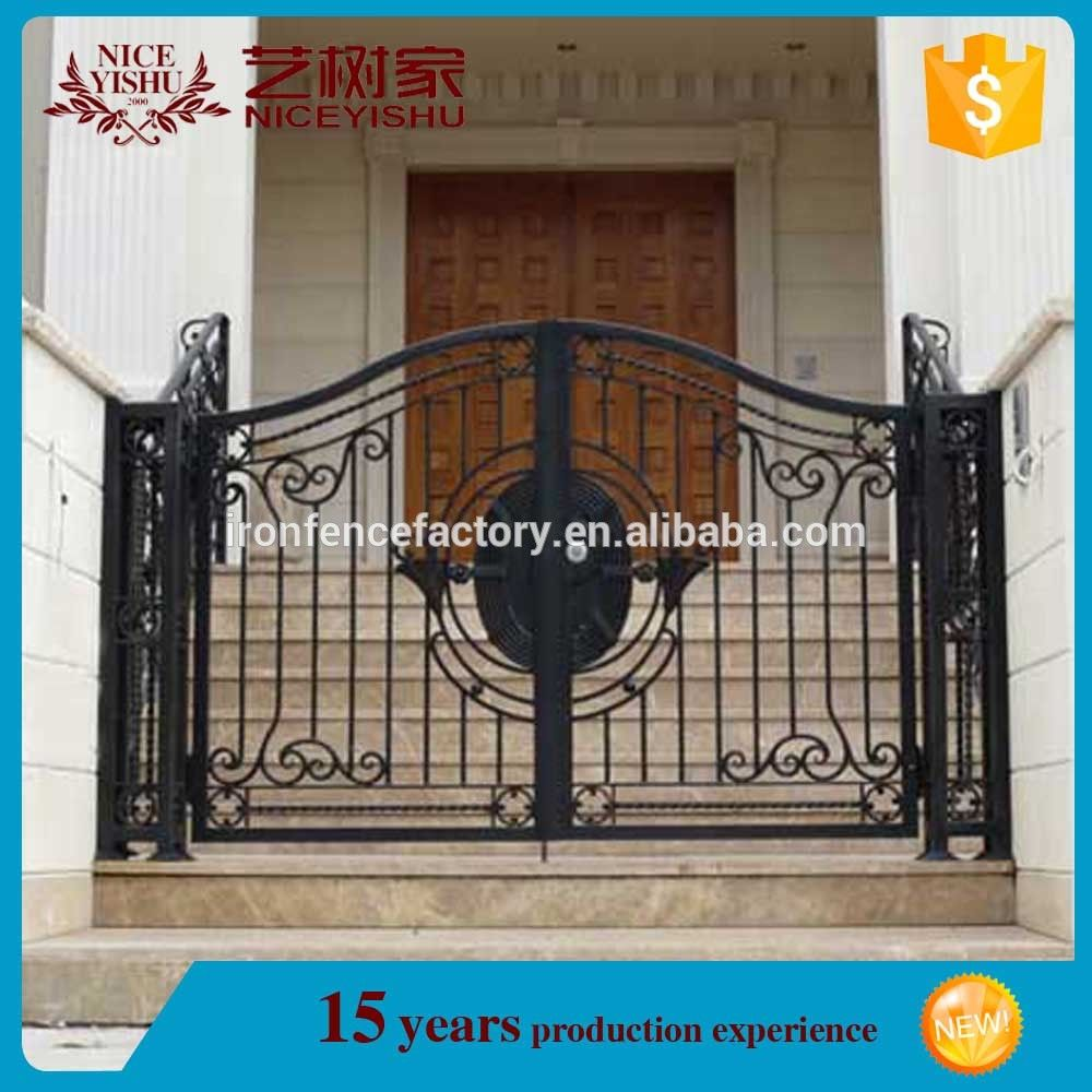 Source Latest Modern Wrought Iron Powder Coated Driveway Indian