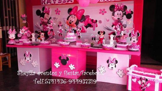 Decoraci n de fiesta infantil minnie coqueta mouse tortas for Decoracion de tortas infantiles