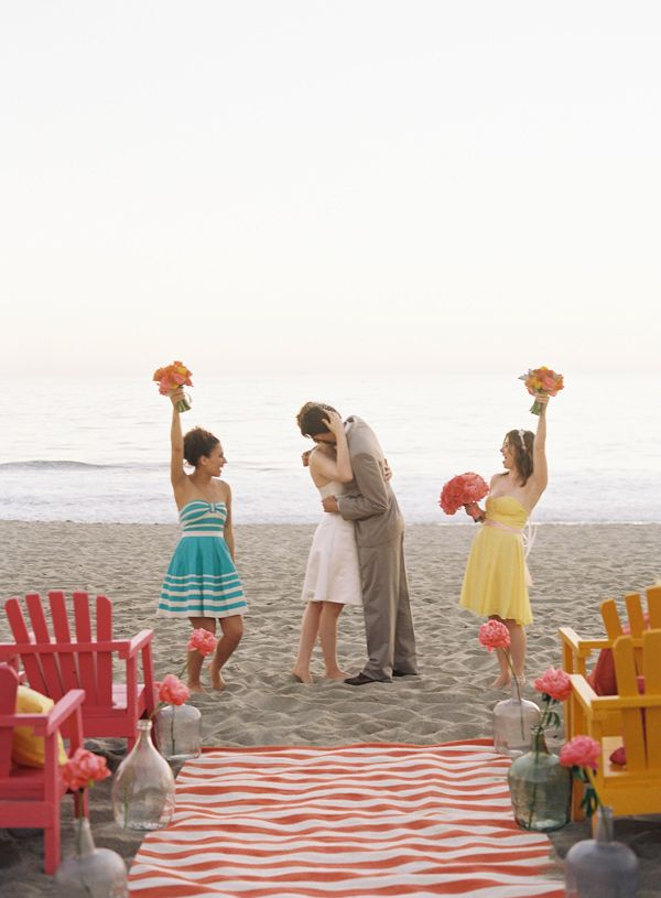 Malibu Beach Wedding Inspiration | Group, Beach wedding inspiration ...