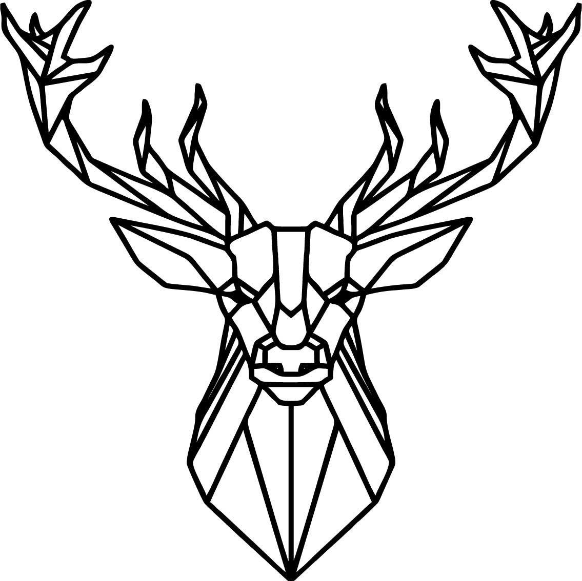 Pin By Sentop S R O On Cz 3d Nastenne Nalepovaci Hodiny Zrcadlove A Barevne Hodiny Na Stenu Dekorace Jako Obraz Geometric Animals Geometric Deer Geometric Art