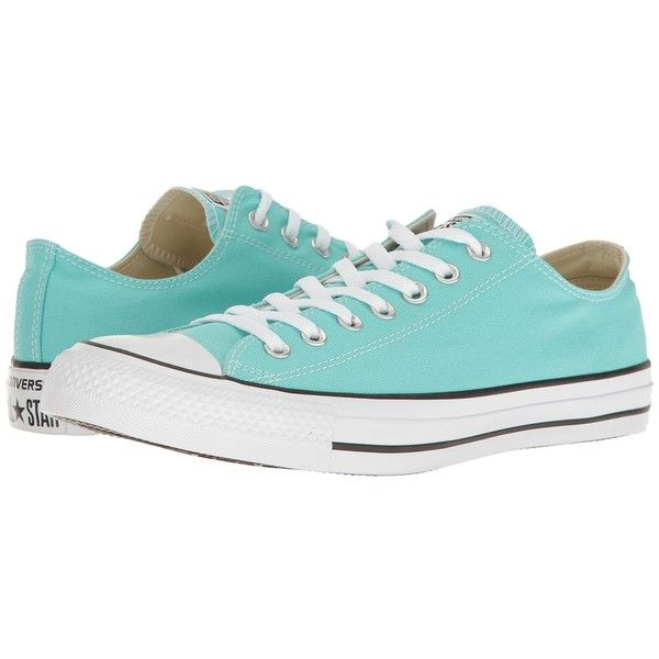568e26f7dcb0 Converse Chuck Taylor All Star Seasonal OX (Light Aqua) Athletic Shoes  ( 50) ❤ liked on Polyvore featuring shoes