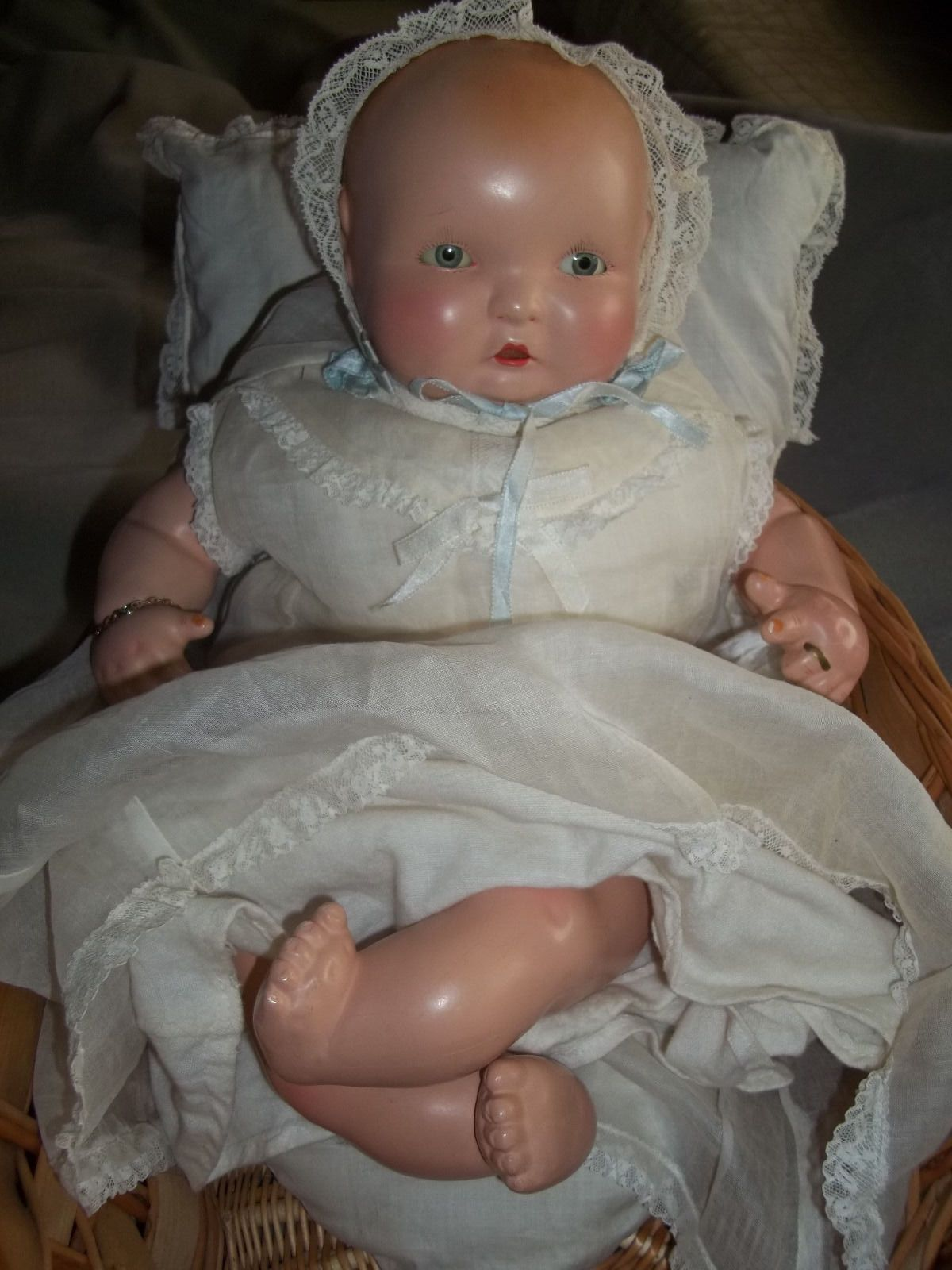 "Adorable All Original 16"" Effanbee Lambkins Composition Cloth Doll 