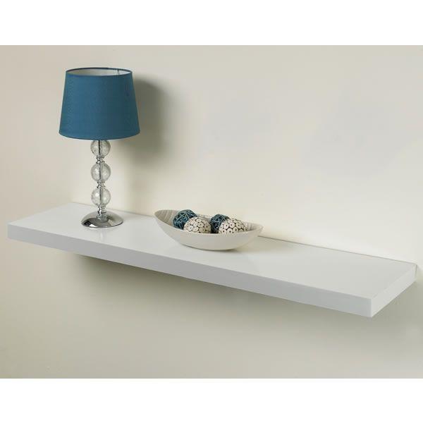practica tendenza floating shelf kit white 25 x 100cm. Black Bedroom Furniture Sets. Home Design Ideas