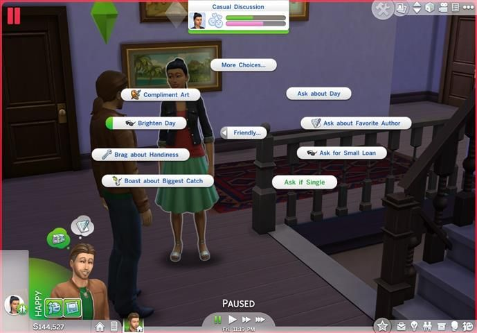 ModTheSims - Sims4 'Ask If Single' is Friendly (1.19)