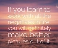 Work with the negatives