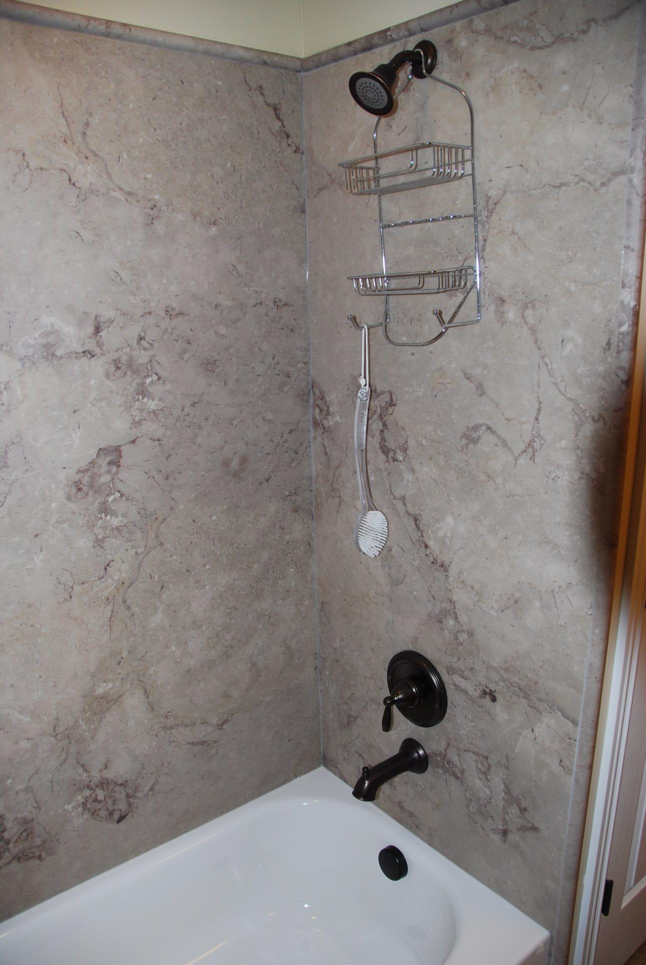 Shower Detail Cultured Marble Basement Bathroom Design Basement Bathroom