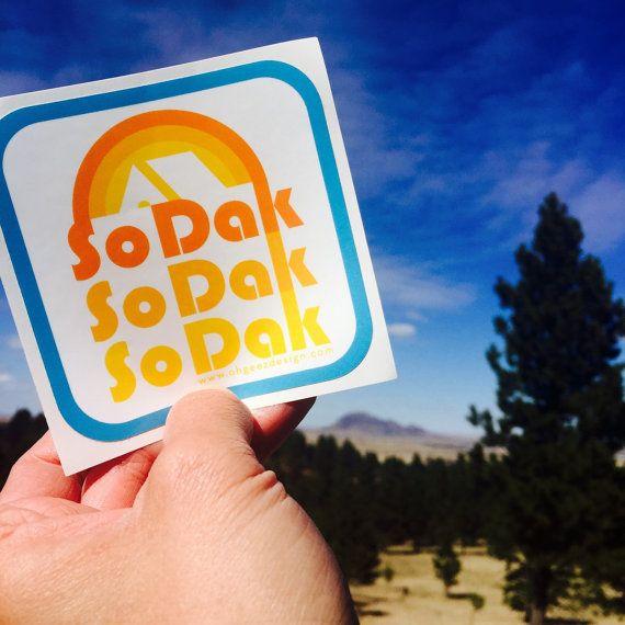 South Dakota So Dak Retro Camping Sticker by Oh Geez! Design