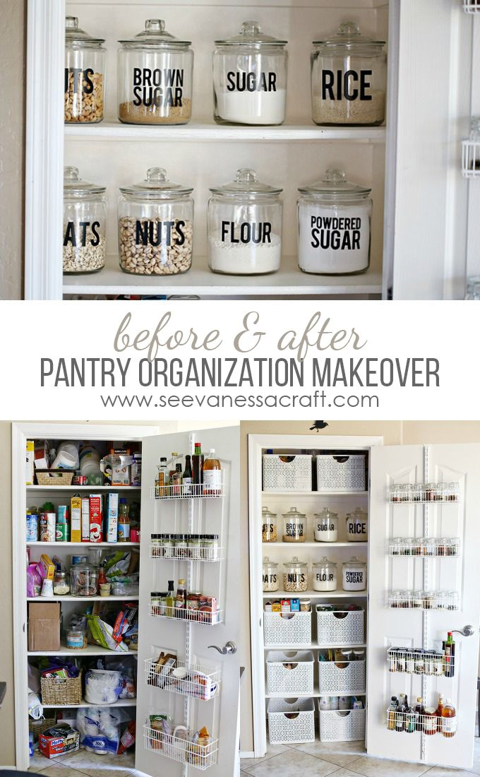Organization Small Pantry Makeover See Vanessa Craft Small Pantry Organization Pantry Makeover Home Organization